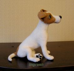 felted Jack Russell by ingreen