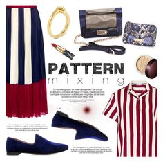 """""""Stay Bold: Pattern Mixing"""" by ifchic ❤ liked on Polyvore featuring RED Valentino, 10 Crosby Derek Lam, Mohzy, Laura Mercier, contestentry, patternmixing and ifchic"""