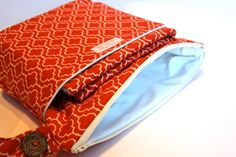 Wet bag set w/changing pad... Moroccan Orange is pretty cool too