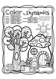 SPRING MUSIC PRINT AND GO - TeachersPayTeachers.com Even thigh schoolers love to color!
