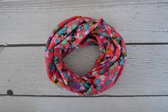 Pink Blurred Floral Toddler and Child Infinity Scarf