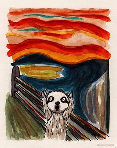 Sloth Watercolours - Imgur