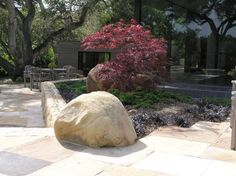 Simple garden space with a fine balance of rock, stone and a touch of Japanese maple - Decoist