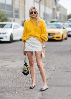 Camille Charier yellow knit