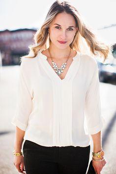 Joie Blouse // Club Monaco Pants // Zara Shoes cityluxestyle.com/blog