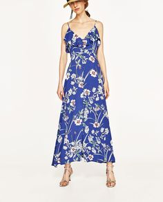 LONG PRINTED DRESS-Maxi-DRESSES-WOMAN | ZARA United States