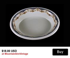 Oval Serving Bowl Maddock's Trenton China Made especially for Hotel Bretton Hall NYC   This is a gorgeous small oval serving bowl made by Maddock's Trenton China under the Lamberton China name. It was made especially for Hotel Bretton Hall in NYC. For more info on the hotel this is a link to their facebook page.  https://www.facebook.com/HotelBrettonHall?fref=ts  The china is resturant grade meaning that it is thick and sturdy. It has a blue outer band with swags of flowers in light blue and…