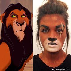 Disney Scar Halloween Makeup Disney Villain Makeup