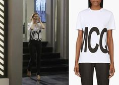 "Cha Ye-Ryun 차예련 in ""She's So Lovable"" Episode 4.  McQ Alexander McQueen White Logo Boyfriend T-shirt.  #Kdrama #ShesSoLovable 내겐 너무 사랑스러운 그녀 #ChaYeRyun"