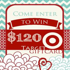 Target Gift Card Giveaway! Win a $120 gift card #giveaway #targetgiftcard #target