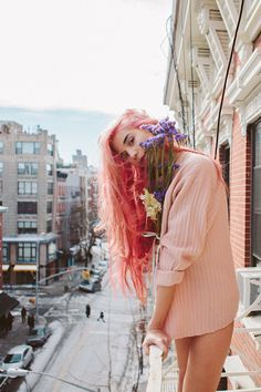 This Girl Nails The Pink Hair Trend #refinery29  http://www.refinery29.com/kamaryn-potter#slide6