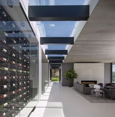 At 1822 Marcheeta, over-the-top wine storage, skylights, and massive fireplaces are all McClean hallmarks.