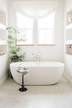 Morgan Farmhouse Master Bath - House of Jade Interiors Blog #freestanding #modern