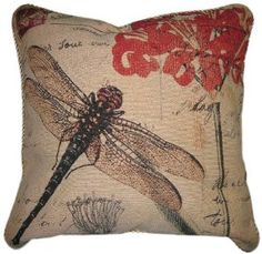Tache 1 Piece 18 x 18 inch Square Exotic European Vintage Fly High Dragonfly for sale online Diy Pillows, Accent Pillows, Pillow Ideas, Couch Grey, Rustic Decorative Pillows, Decorative Accents, Neutral, Girly, Hacks