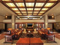 Built in 1910 to serve the banking, legal, and agricultural barons who were riding the wave of a booming farming industry, the Historic Park Inn Hotel is the last of six Frank Lloyd Wright–designed hotels still serving the public. After falling into disrepair, a local trust, Wright on the Park, renovated the structure and turned it into a 27-room boutique hotel that reopened in 2011. The renovation restored this historic building to its original splendor as a pristine example of Wright's…