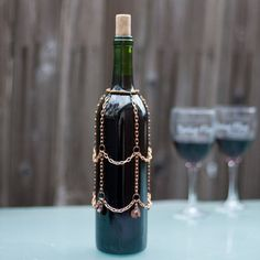 wine bottle cover copper and crystal decorative by BoozyCouture, $18.00