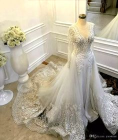 2016 Boho Style Lace Trims Silk Satin Long Fit Flared Long Wedding Dress Champagne Flowers Bridal Gowns Modest Muslim Wedding Dresses 2016 Boho Style Lace Wedding Dresses Champagne Flowers Bridal Gowns Muslim Wedding Dresses Online with $240.0/Piece on Yaostore's Store | DHgate.com