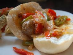 Italian Sausage Sandwiches with Peppers and Onions