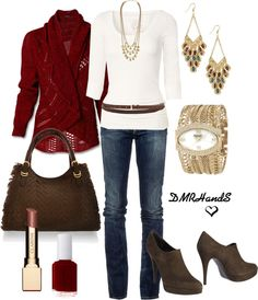 brown & red for fall So cute!
