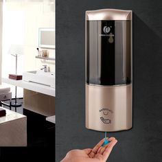 The single-chamber liquid soap dispenser is made of new and good quality ABS and PC glass, which is durable, compact and sleek looking. The automatic soap dispenser adopts innovative Infrared sensor technology, no touch, no germs spreading, very safe and health. Perfect for hotel, shopping mall, office building, bathroom, toilet, school, kindergarten, banks, and other public places.  The Shampoo Dispenser are available, they are all fast selling, click theimage to order yours now. Shampoo Dispenser, Bathroom Soap Dispenser, Automatic Soap Dispenser, Lotion, Liquid Soap, Washroom, Bathroom Fixtures, Wall Mount, Cool Things To Buy
