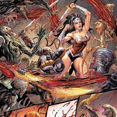 Time to spill your guts! #Deathstroke annual, in stores and online now! Online link is in my bio! #DCcomics #dc #dcu #wonderwoman #SladeWilson #comicart #comics #comicbookartists #swords #monsters