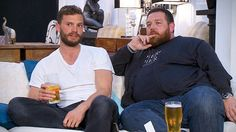 Jamie Dornan and Nick Frost star in celebrity Gogglebox: Stand Up To Cancer special on Channel 4.