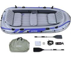 Intex Excursion 5 Inflatable Raft Set - Five Person Blow Up Boat $129 on sale. Usually $300 rubberboats.com