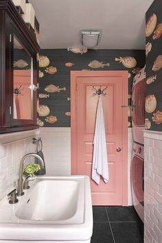 Interior Design Ideas Brooklyn Willis Design Associates Park Slope is part of Powder room wallpaper -