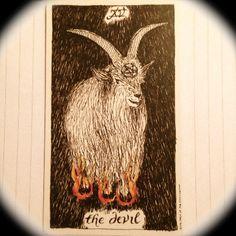 The Devil of the Wild Unknown Tarot: card explanation http://happyfishtarot.com/blog/the-devil-wild-unknown-tarot/