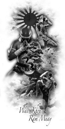 Effective Muay Thai fighting and sparring techniques Best Sleeve Tattoos, Tattoo Sleeve Designs, Tattoo Designs Men, Muay Boran, Tattoo Drawings, Body Art Tattoos, Cool Tattoos, Muay Thai Tattoo, Elefante Tattoo
