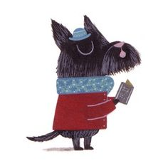 Scottie dog illustration