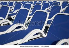 stock photo : empty sun loungers on the top deck of a cruise ship Puerto Rico Greater Antilles Caribbean lesser antillies west indies