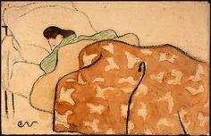 Edouard Vuillard -  Woman in Bed (National Gallery of Art, Washington DC)