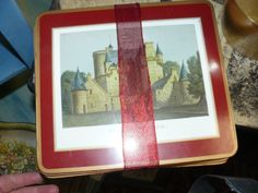 Pimpernel British hard placemats and table boards, cork back, depicting lovely cottages, castles, flowers, and other themes