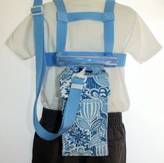 Child Safety Harness and Tether / Lead Blue by CloverSaysSo