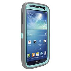 OtterBox Defender Series for Samsung Galaxy S4 Case - Retail Packaging - (Grey - Blue Harmony) OtterBox