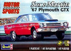 Revell Sox &  Martin 67 Plymouth GTX box art