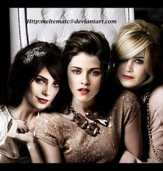 # The Cullen Girls! Die Twilight Saga, Twilight Cast, Twilight Breaking Dawn, Twilight Series, Twilight Movie, Nikki Reed, Kristen Stewart, The Cullen, Rosalie Cullen
