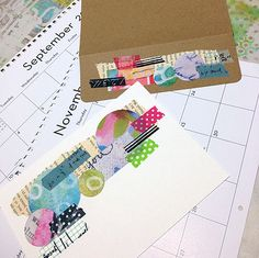 """""""Every Life Has a Story!"""" - {Roben-Marie Smith} - Upcycled CalendarCards..."""