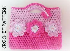 THE PINK FLOWER Crochet Bag Pattern By Kerry by KerryJayneDesigns