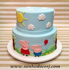 Bolo Peppa Pig! Veja outros modelos e produtos em nosso site! Site: www.sonhodocerj.com E-mail: sonhodocerj@gmail.com #bol #bolodecorado #festa #peppapigparty #peppapigparty #bolopeppa #bolopeppapig #peppapigcake #peppa #festapeppapig #peppapig Bolo Da Peppa Pig, Peppa Pig Birthday Cake, 2nd Birthday, Bolo George Pig, Cake Pops, Cupcake Recipes, Cupcake Cakes, Aniversario Peppa Pig, Toddler Party Games