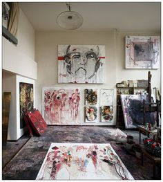 Yaze. Atelier Rue de Belleville, Paris