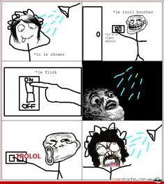 Shower Rage - Other - Aug 20, 2012 - Rage Comics - Ragestache