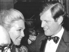 """October 13, 1970 - Ted congratulates his wife on her first public performance. It is said that when she went backstage, he side-hugged her and said """"Good job, mommy"""", which prompted some journalists to say something like """"this shows how Irish men treat their women""""."""