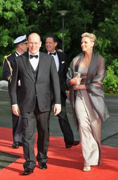 6.18.10  Prince Albert of Monaco and girlfriend Charlene Wittstock at Government Pre-Wedding Dinner for Crown Princess Victoria of Sweden and Daniel Westling at The Eric Ericson Hall in Stockholm, Sweden.