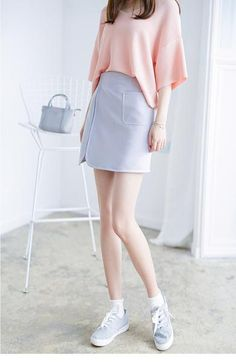 Korean Fashion - Single color skirt - AddOneClothing - 2