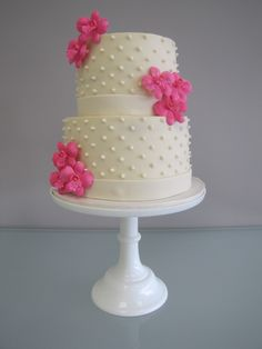pink orchid anniversary cake