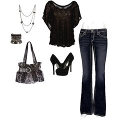 I would wear this just like this.. w/o the necklace and probably flip flops with no purse and probably no bracelet! lol
