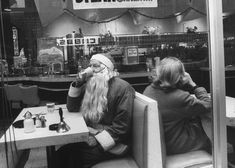Vintage Christmas Photograph ~ Santa taking a coffee break during the NYC Christmas season. New York, NY. ~ December 1962