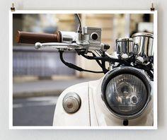 Paris Photography Moped  French Art Prints by TheParisPrintShop